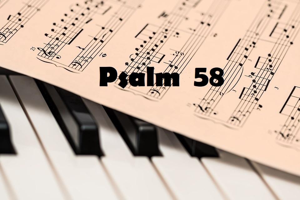 Psalm 58 - Sędzia ziemskich sędziów cały tekst