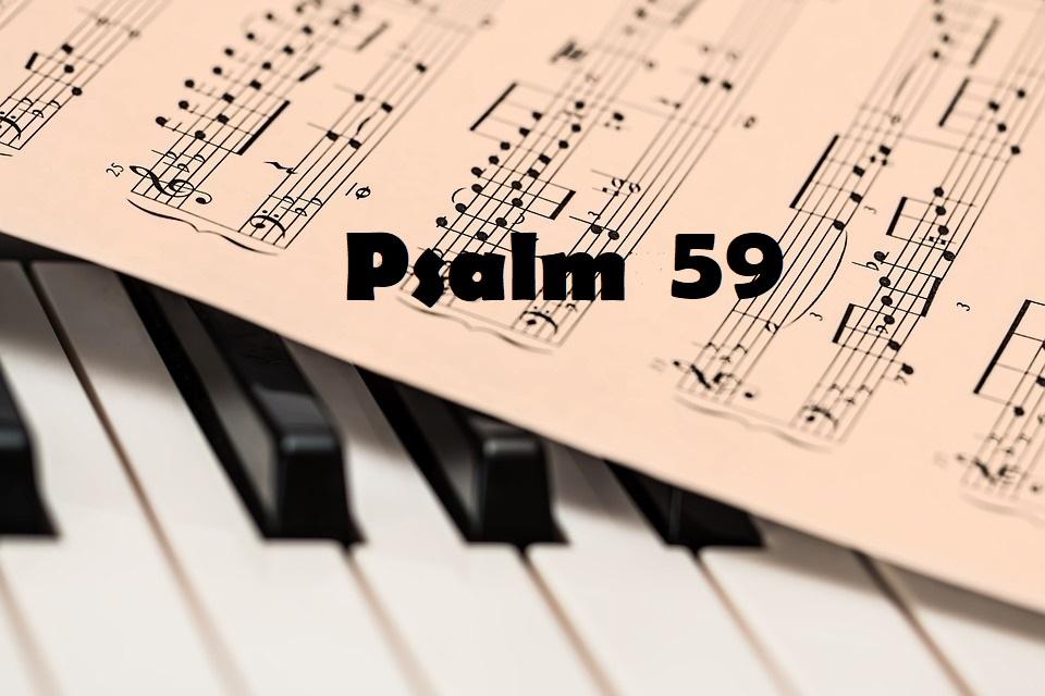 cały tekst Psalm 59 - Przeciw krwiożerczym wrogom