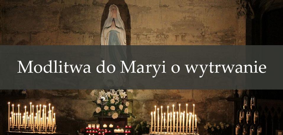 Modlitwa do Maryi o wytrwanie
